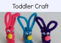 PipeCleaner Bunnies & Carrots #Craft