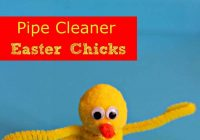 Pipe Cleaner Easter Chicks #Craft