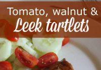 Tomato, Walnut & Leek Tartlets #Recipe