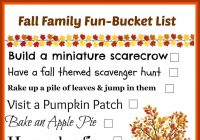 Family Fall Fun - Bucket List