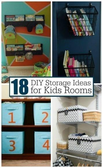 18 DIY Kids Room Storage Ideas - RedHeaded Patti