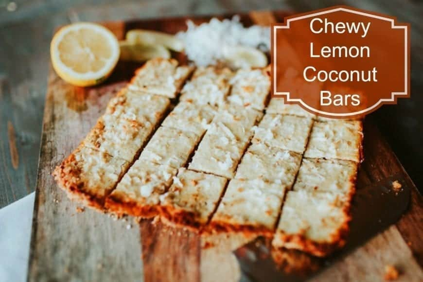 Chewy Lemon Coconut Bars #Recipe