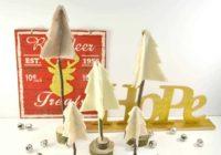 Rustic Felt and Twig Christmas Trees #Craft
