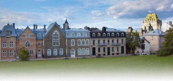 Stree view of historic European buildings