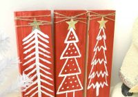 Upcycled Pallet Christmas Tree Decor #Crafts