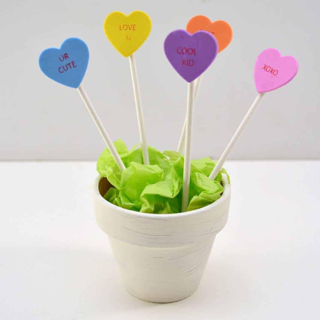 Conversation Heart Planter #Craft