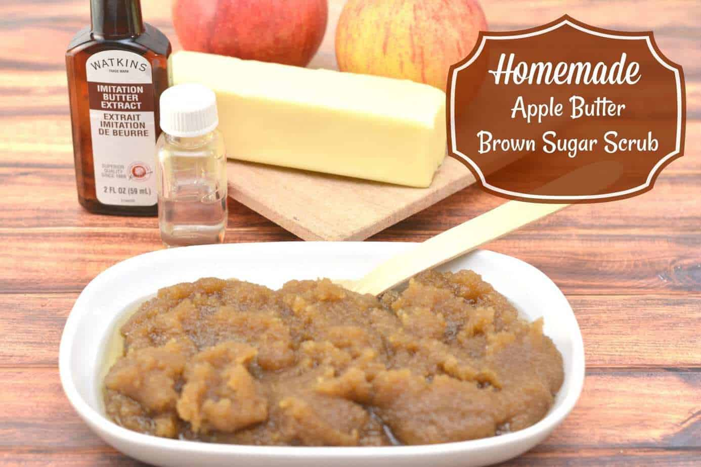 Homemade Apple Butter And Brown Sugar Scrub