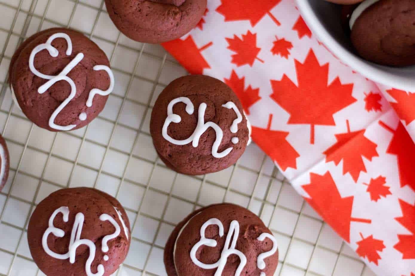 Canada Day Red Velvet Whoopee Pies #Recipe