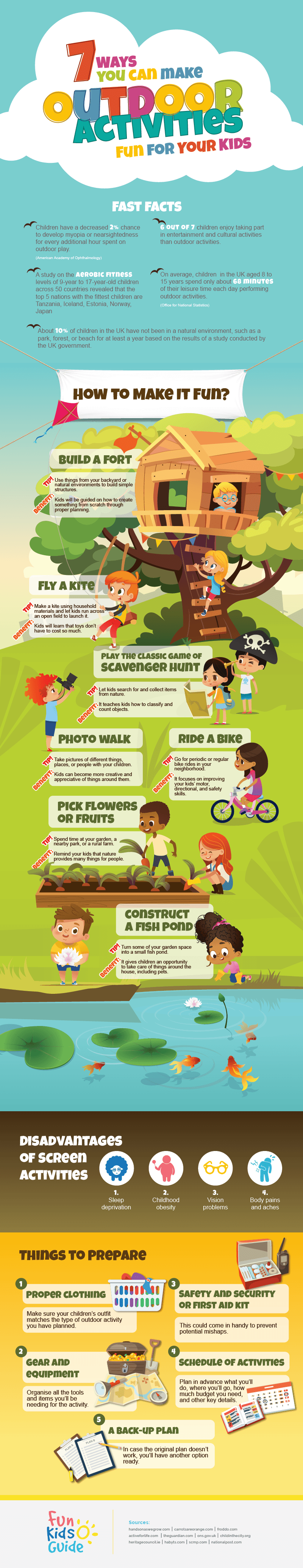 7 Ways You Can Make Outdoor Activities Fun For Your Kids Infographic