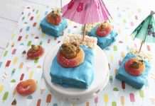 Floating Teddy Bear Rice Krispie Treats