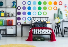 colorful childrens bedroom