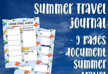 Summer Travel Journal
