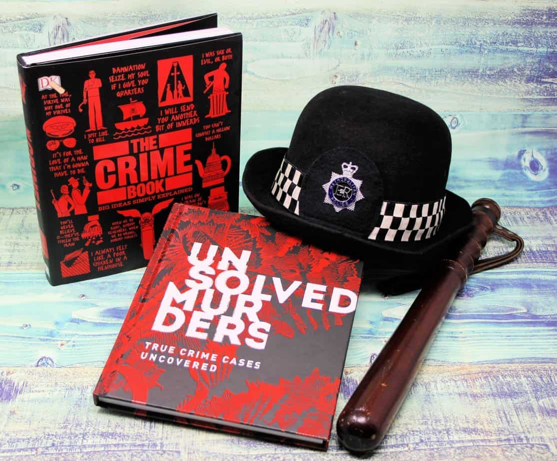 Book Covers - Unsolved Murders & The Crime Book by Dorling Kindersley