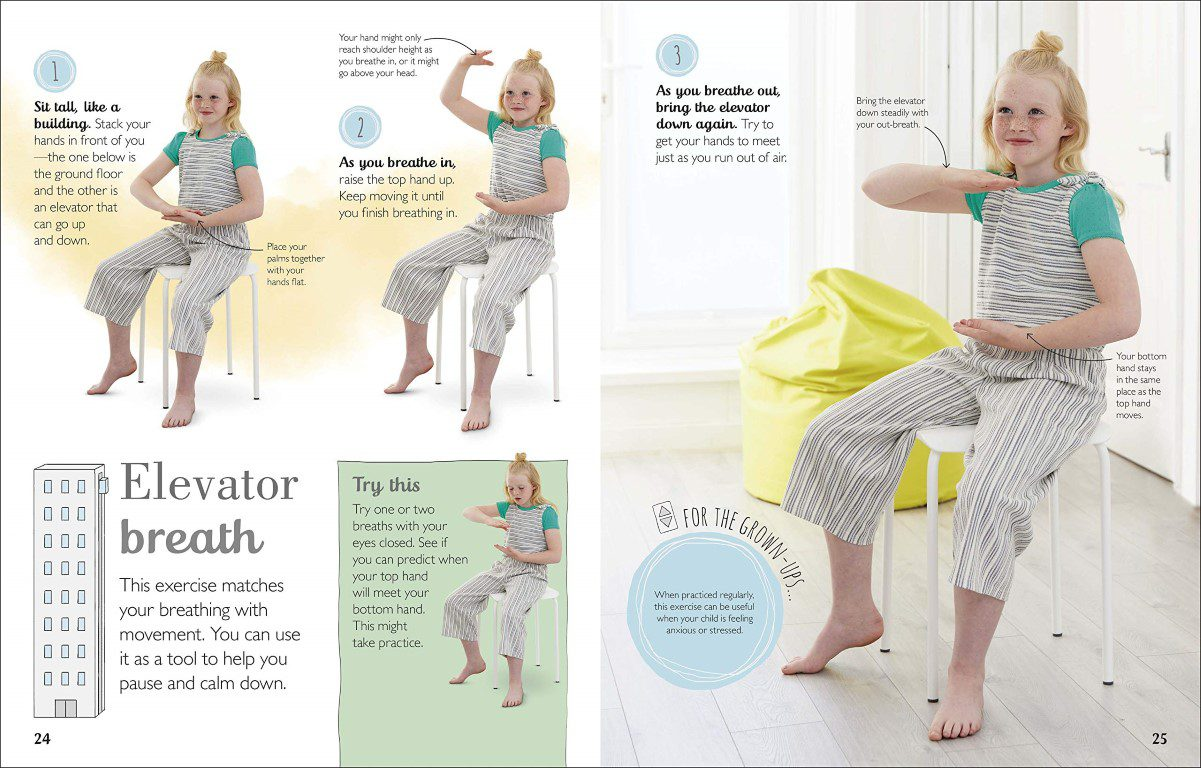 Calm: Mindfulness For Kids Elevator Breath Page Spread