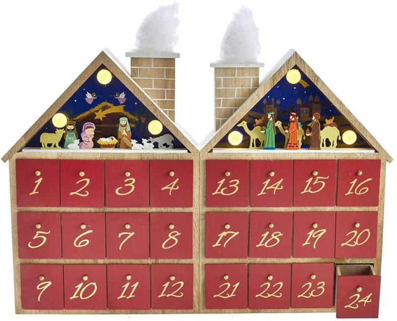 Wooden advent calendar for teens