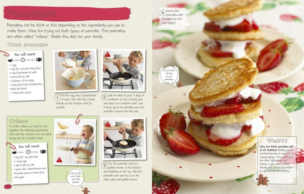 How Cooking Works by Dorling Kindersley, Pancakes recipe pages